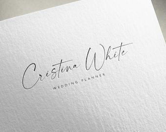 Simple, elegante, Premade script logo, Signature logo, Customized logo