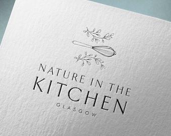 Vol. 2 - Botanical logo, Premade logo, Cuisine logo, Nature and cooking symbol logo, Customized logo