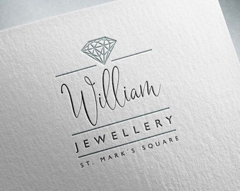 Vol. 2 - Diamond logo, Premade logo, Shop logo, Elegant logo, Customized logo, Gem logo