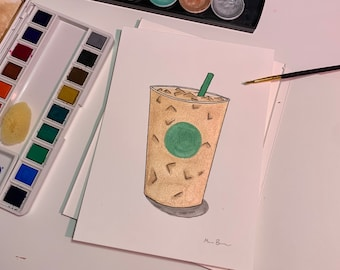 Starbucks Watercolor Painting Iced PSL