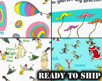 Dr Seuss Oh The Places You Will  Go  cotton Panel by Robert Kaufman fabrics