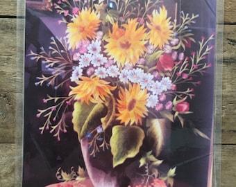 "Order hand-embroidery according to pattern: HEP02-no frame - ""Chrysanthemum Vase"""