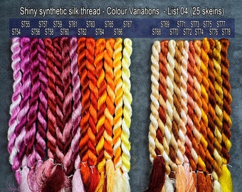 106 colors for choose (List 02) - Glossiest Synthetic Silk Embroidery Thread - Colour Variations Thread - Thuong Embroidery