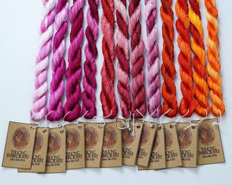 Embroidery Thread (30-yard skeins) - Shiny Synthetic Silk Thread