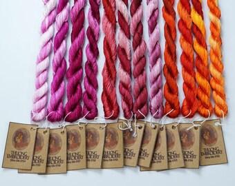 Embroidery Thread (60-yard skeins) - Shiny Synthetic Silk Thread - List 2