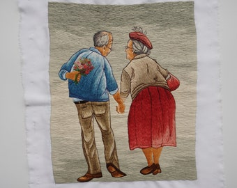 Hand Embroidery Art - HEB05-No frame: Forever Together