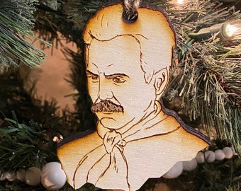 The Soup Nazi (Seinfeld) wooden Christmas ornament