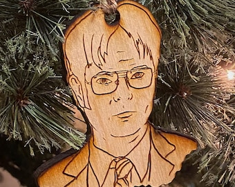 Dwight Schrute (The Office) wooden Christmas ornament