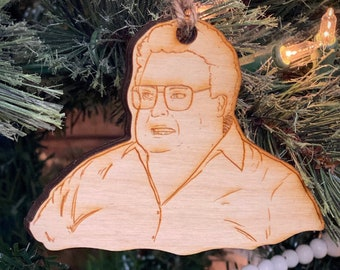 Newman angry wooden Christmas ornament
