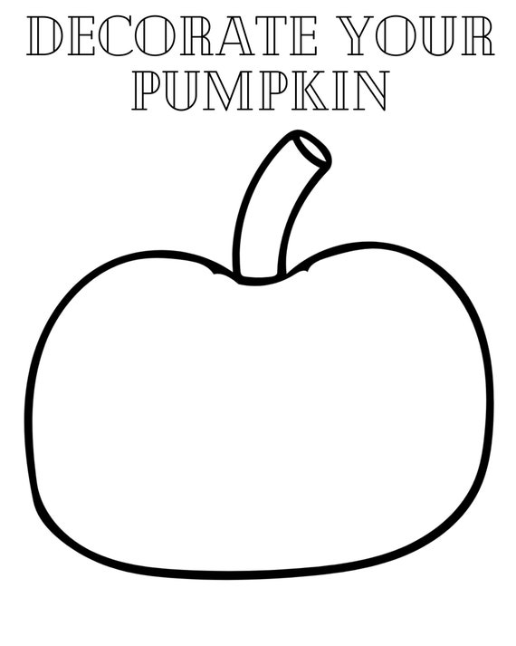 Decorate Your Pumpkin Coloring Sheet