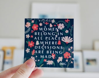 Ruth Bader Ginsburg Quote Sticker
