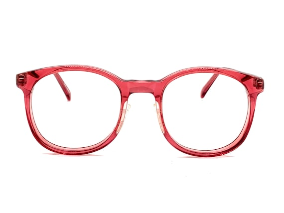 80s Round Red Eyeglass Frames | Womens P3 Perfectl