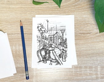 Sketches Stationery Set- Folded Notecards with Artwork