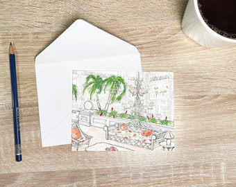 Watercolor Stationery Set- Folded Notecards with Artwork