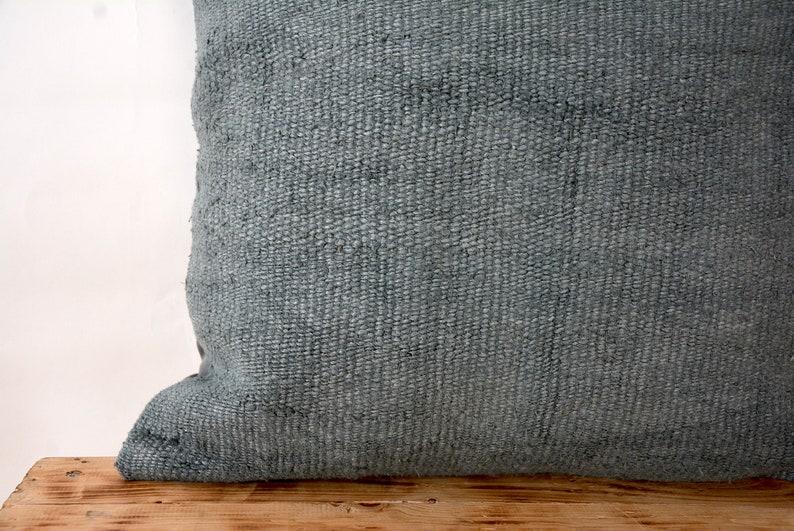 Bohemian Pillow Blue Hemp Pillow Cover Vintage Cushions PE-638 Couch Pillow Turkish Pillow Decorative Pillow 20 x 20 Inches