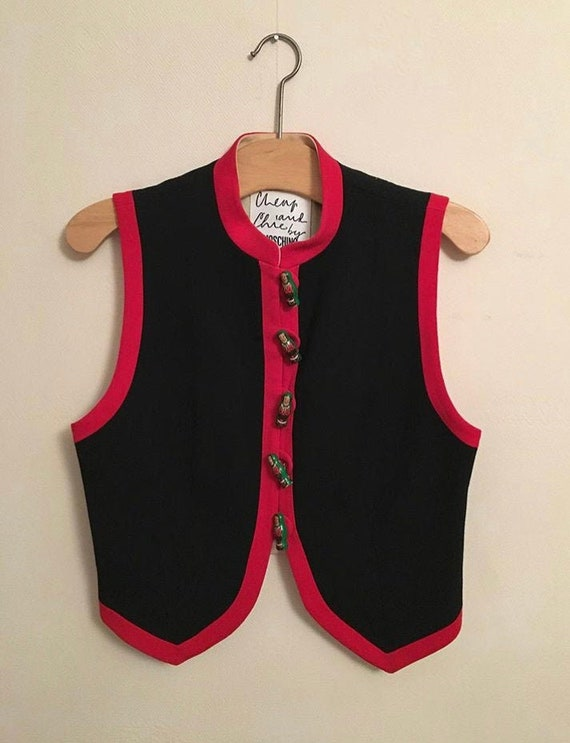Vintage Moschino Cheap and Chic waistcoat