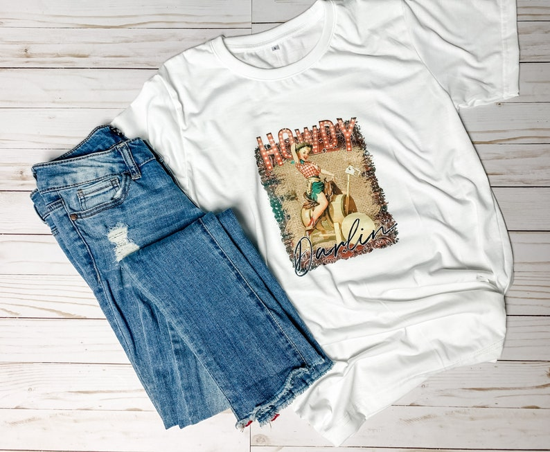 Country Cowgirl Shirt Country shirt Cowgirl Shirt Rustic Cowgirl Shirt Rustic Country Shirt Howdy Cowgirl Shirt Howdy Darling Shirt