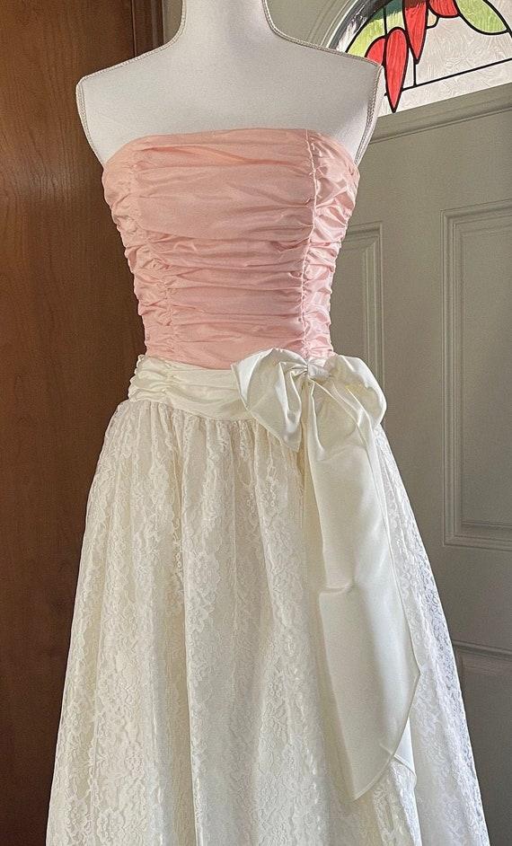1980s Gunne Sax by Jessica McClintock Prom Dress