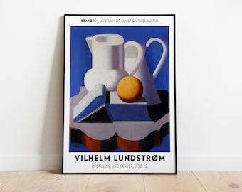 Vilhelm Lundstrom Exhibition Poster Art Gallery Print Art Poster Swedish Art Scandinavian Poster Printable High Quality Wall Decor
