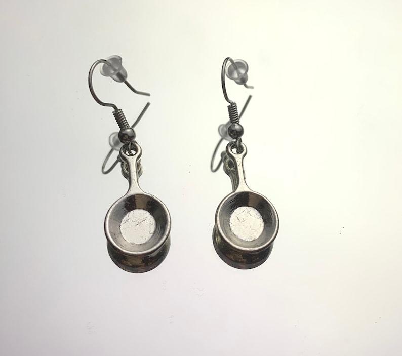 Silver Pan Earring