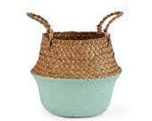Storage Baskets laundry Sea grass Baskets Wicker Hanging Flower Pot Baskets Storage Flower Home Pot panier Osier basket for toys