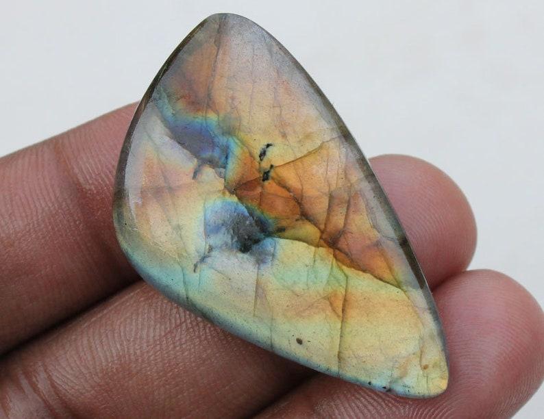 Black Rainbow Cabochon Jewelry Making Gems Healing Stone Labradorite 24X42X6 MM Amazing Labradorite Fancy Shape Cabochon Gemstone