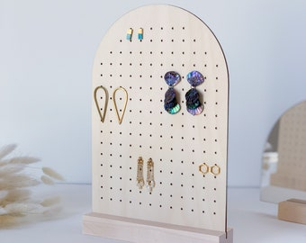 PEGGY LARGE   Stud Earring Display, Earring Stand, Earring Holder, Craft Fair Display, Store Display, Earring Storage, Pegboard