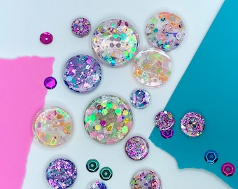Glitter Resin Button Mystery Grab Bag!
