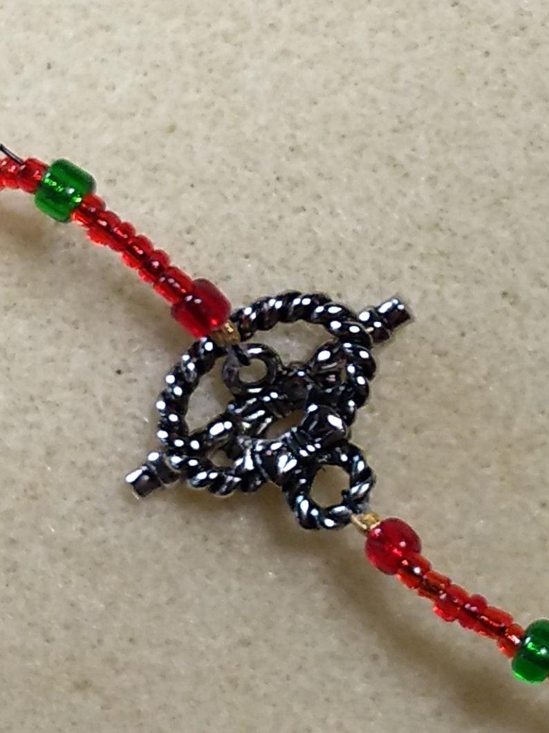 Christmas gift box beaded necklace and bracelet set