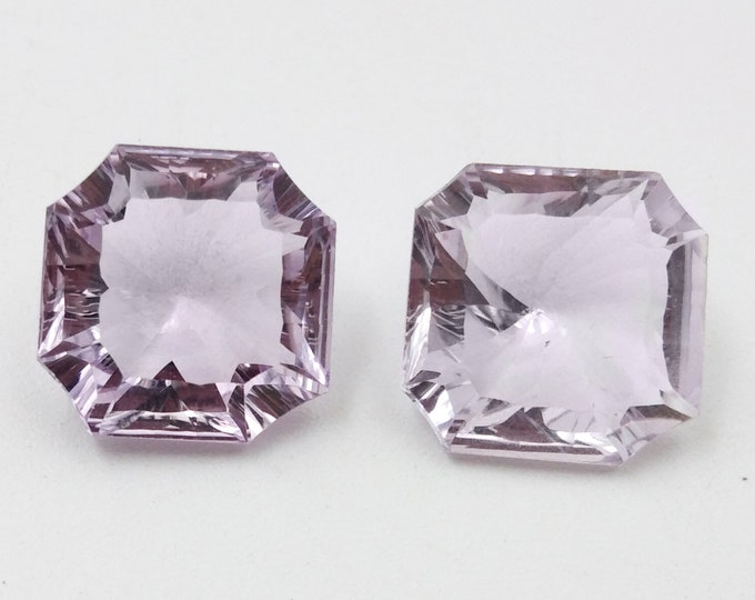 11x11x6 mm Size Fancy AAA Quality Natural Pink Amethyst Fancy Shape Concave Gemstone Made For Jewelry Handmade Stone