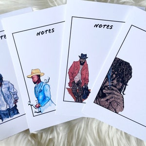 Melanin Prints Notecards Blank Cards Stationary Men Kollection I Original Art  Notes Gifts Desk Paper