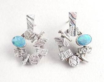 Opal Doublet Mosaic Earrings