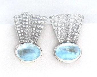 Aquamarine Sea Urchin Earrings