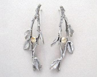 Twigs w/ Citrine Earrings