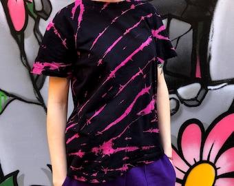 Tie Dye T-shirt + FREE Tie Dye Bandana, Reverse Tie Dye T-shirt, Unisex , Fuchsia tie dye T-shirt, Spiral Tie Dye T-shirt, All Sizes