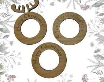 Napkin Ring Holder, Napkin Rings Wood, Any Occasion Napkin Rings, Wooden Napkin Rings With names, Personalised Napkin Rings,