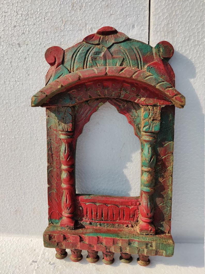 Wooden Hand Painted Jharokha window Indian jharokha photo frame hand painted doorOriginal Antique Hand painted Indian furniture jharokha