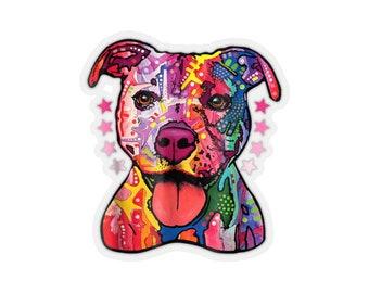 Pitbull Rainbow Pitbull Dog Lover - Kiss-Cut Stickers
