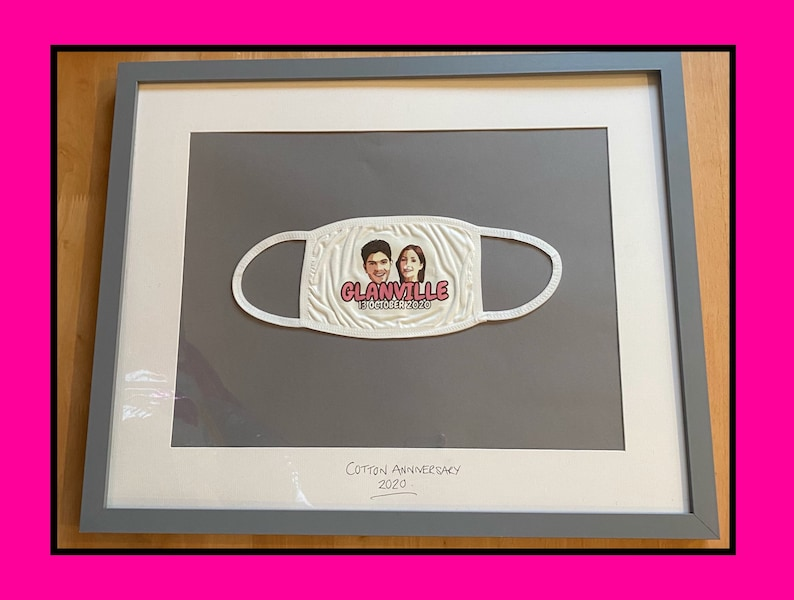 Wedding Anniversary Personalised Face Covering