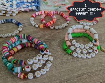Custom heishi beads bracelet