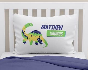 Personalized Boys Pillowcase Dinosaur