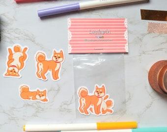 Shiba Inu Dog Stickers stationery planner journal kawaii cute craft