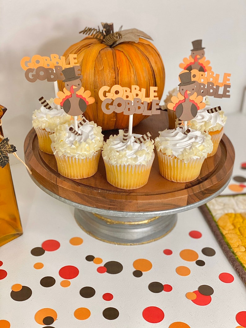 Thanksgiving Food Picks And Cupcake Toppers