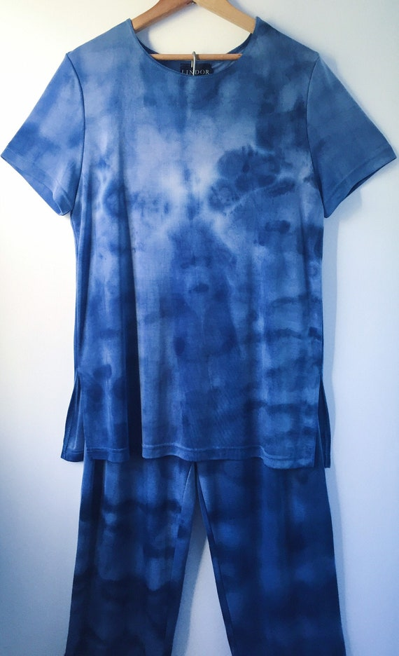 90s Tie Dye Cloud Two-piece  Set