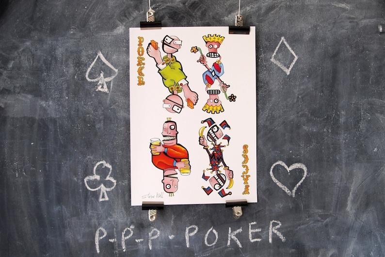 Poker Face. Giclee print. A3. Unframed. image 0