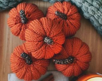 pumpkin halloween decoration, crochet pumpkins, autumn porch decor halloween gifts, knitted pumpkin thanksgiving gift