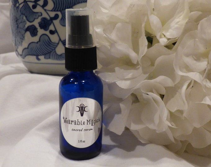 Sacred Oil Face Serum - Sensitive or Aging skin, Moisturizer - Blessed Under the Full Moon. Handcrafted, Organic, Magick FREE SHIPPING in US