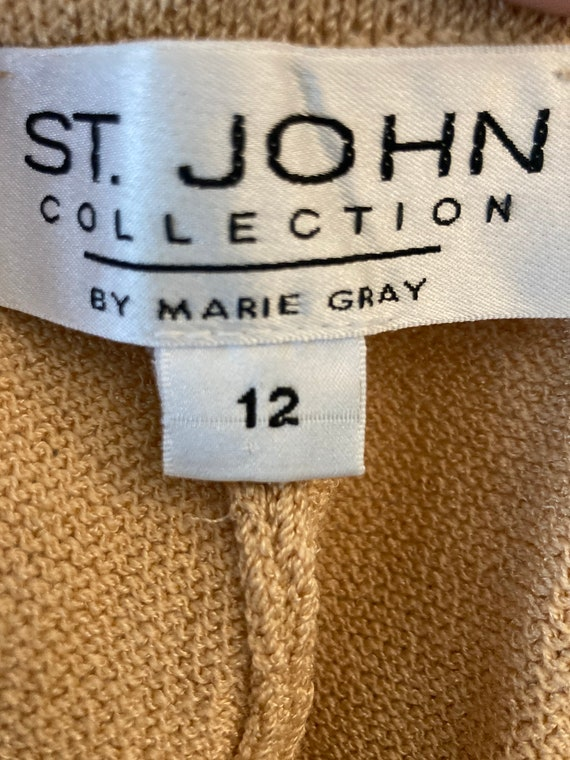 St John Collection by Marie Gray Gold Knit Pants … - image 1