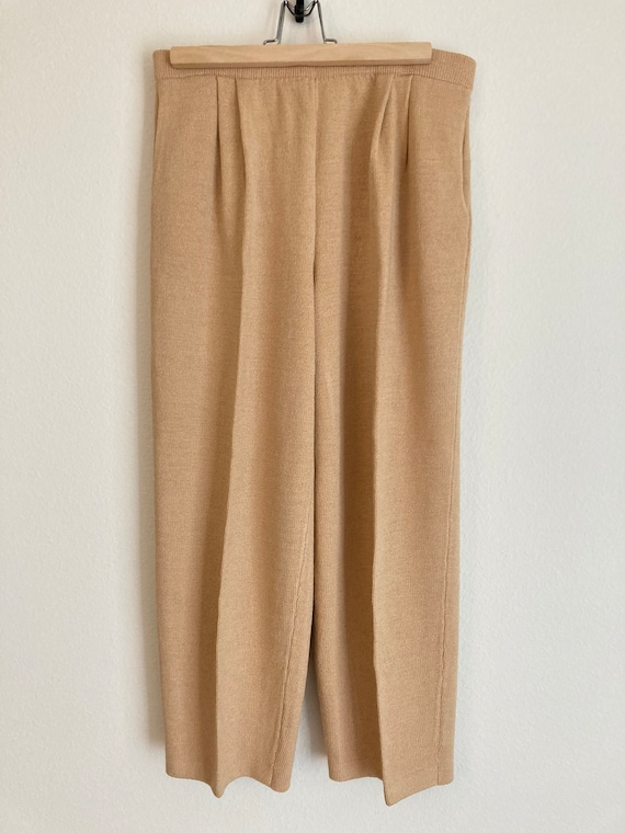 St John Collection by Marie Gray Gold Knit Pants … - image 3