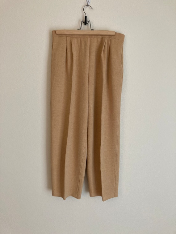 St John Collection by Marie Gray Gold Knit Pants … - image 2